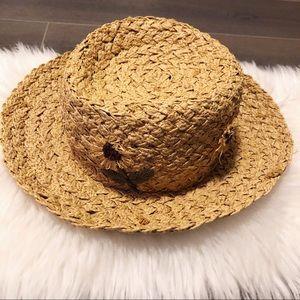 GAP sunflower summer basket weave hat!